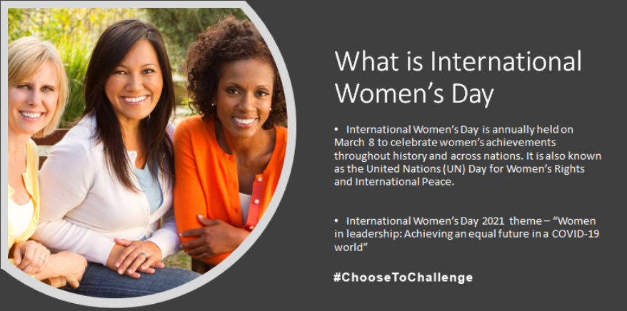 International Women's Day #Choosetochallenge